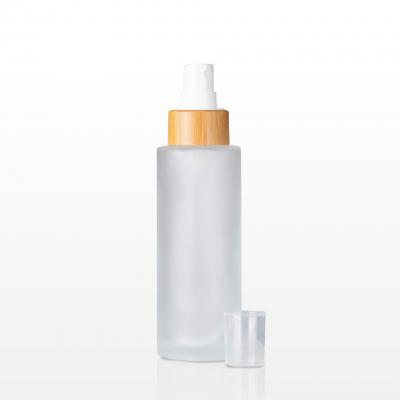 Spray flacon sticla mat capac bambus - 100 ml1