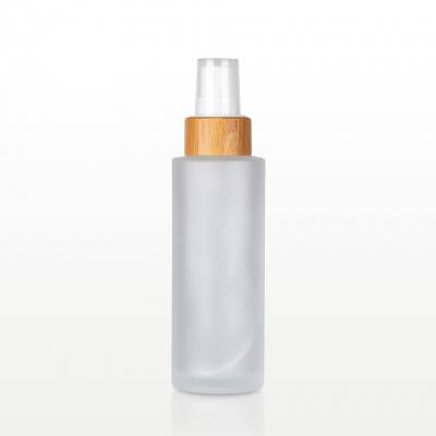 Spray flacon sticla mat capac bambus - 100 ml0