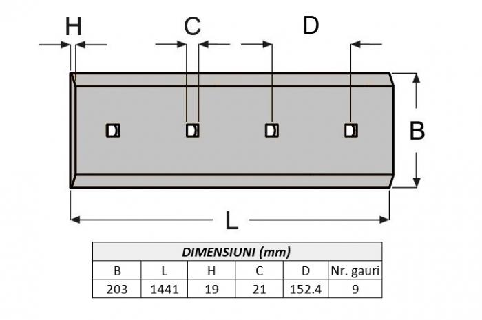 Lama de uzura 4T3004-AROX 1