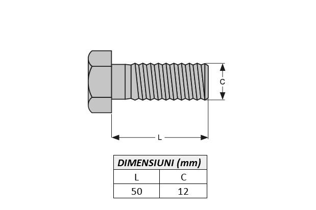 Surub fixare dinte miniexcavator E600.1B-ITR 1