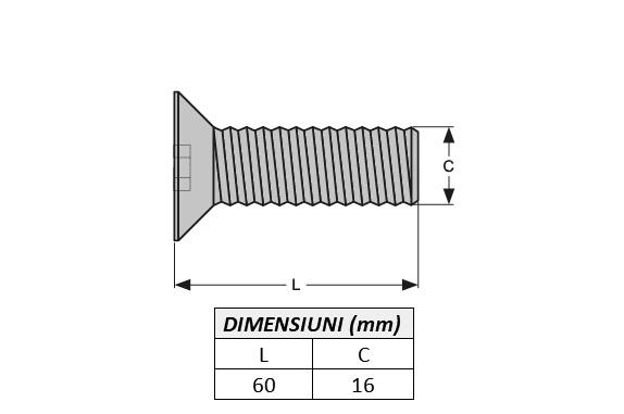 Surub fixare dinte miniexcavator E616.2B-ITR 1