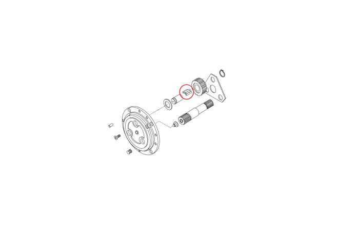 Ace rulment buldoexcavator Komatsu-CARRARO [1]