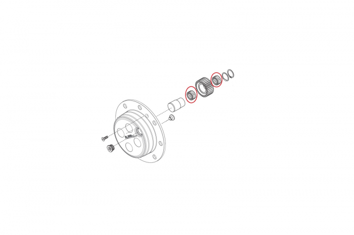 Ace rulment buldoexcavator Komatsu-CARRARO 1