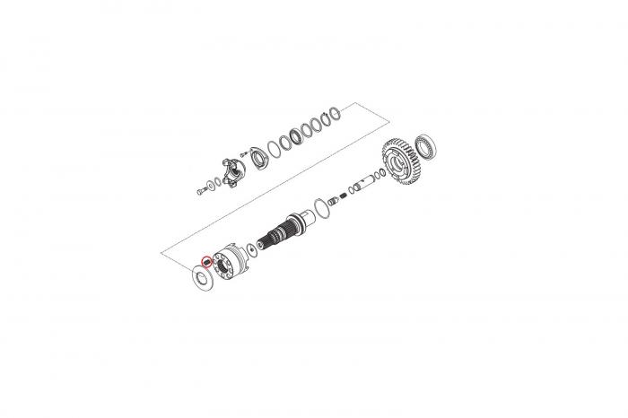 Arc buldoexcavator Komatsu-CARRARO 1