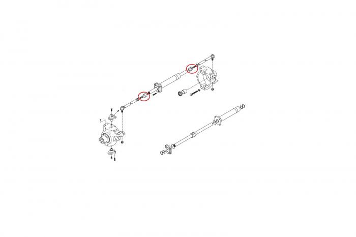 Bieleta directie buldoexcavator Komatsu-CARRARO 1