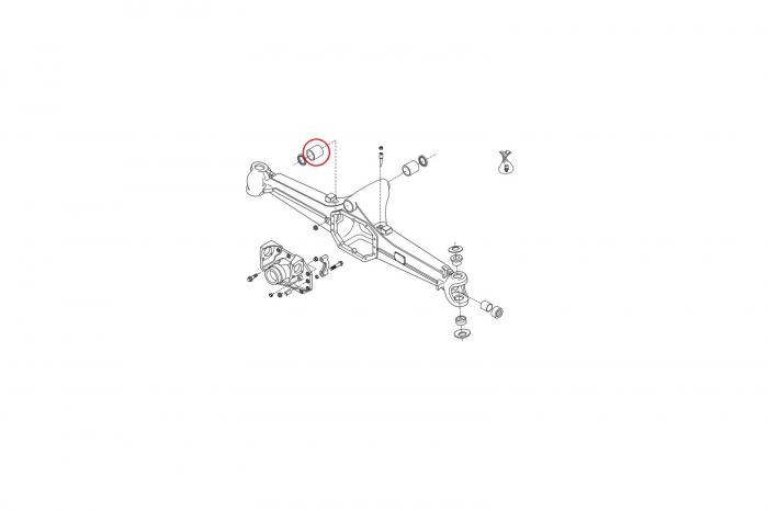 Bucsa prindere axa buldoexcavator Volvo-CARRARO [1]