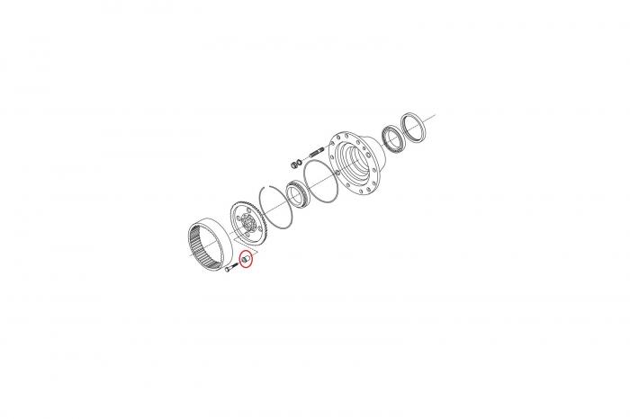 Bucsa buldoexcavator Komatsu-CARRARO 1