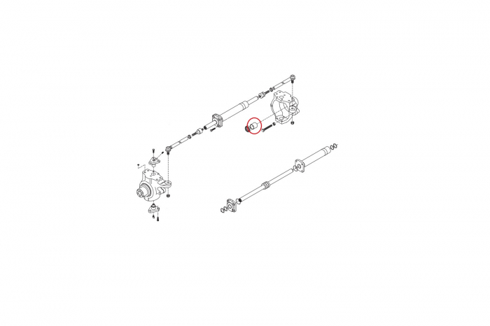 Bucsa planetara buldoexcavator Komatsu-CARRARO 1
