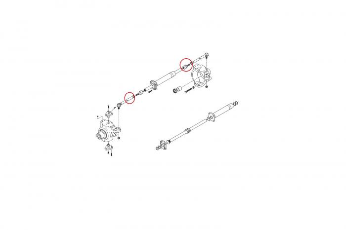 Capat de bara buldoexcavator Komatsu-CARRARO 1