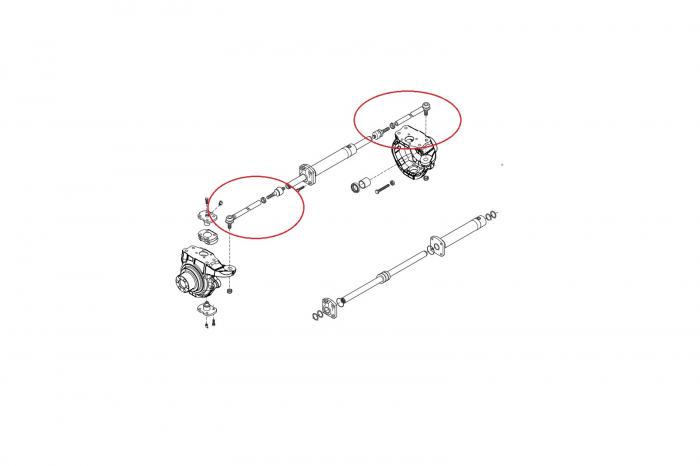 Capat de bara complet buldoexcavator New Holland 132390-CARRARO [1]
