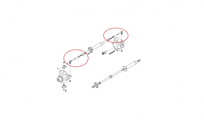 Capat de bara complet buldoexcavator Komatsu-CARRARO 1