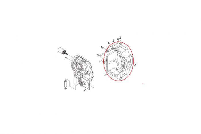 Carcasa spate cutie viteza buldoexcavator Komatsu-CARRARO 1
