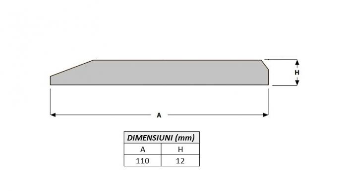 Cutit brut 110X12X1000-AROX 1