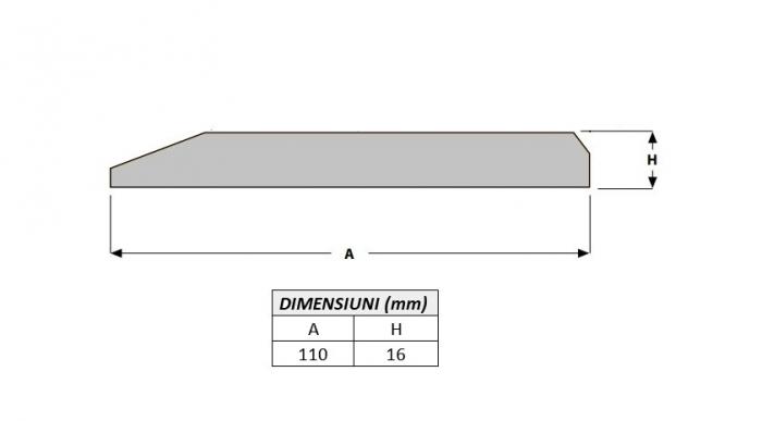 Cutit brut 110X16X1000-AROX 1