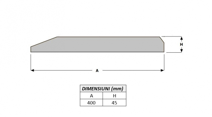 Cutit brut 400X45X1000-AROX 1