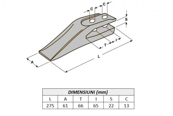 Dinte cupa miniexcavator E30.1-ITR 0