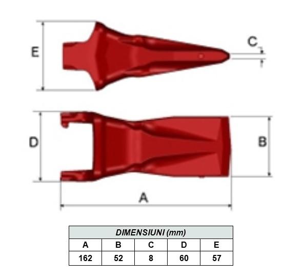 Dinte cupa MG8U-MTG [4]