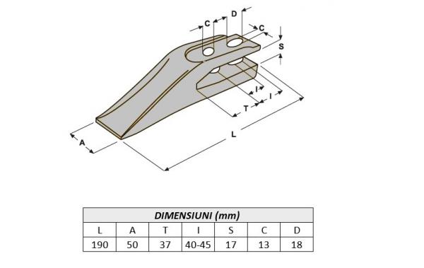 Dinte cupa miniexcavator E11.4-ITR [0]