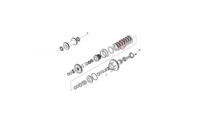 Disc buldoexcavator Komatsu-CARRARO 1