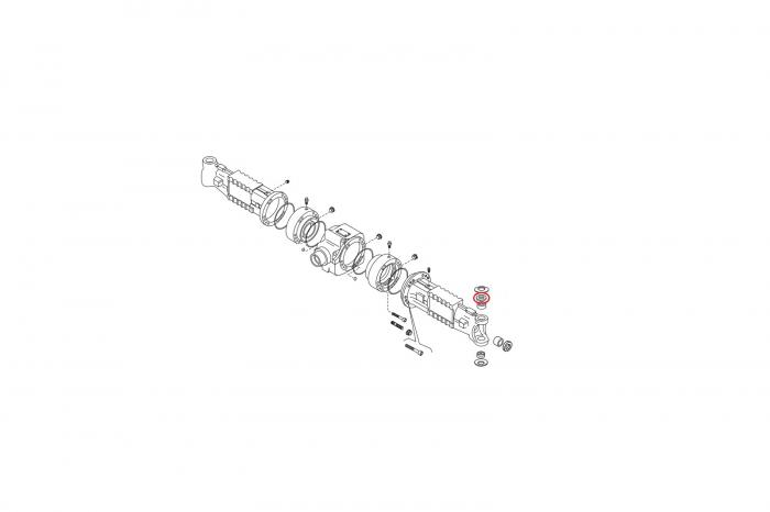 Distantier buldoexcavator Komatsu-CARRARO 1