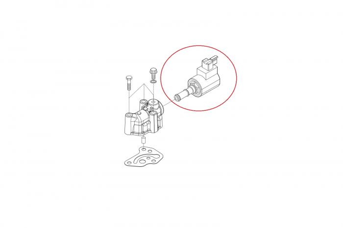 Electrovalva buldoexcavator Komatsu-CARRARO 1