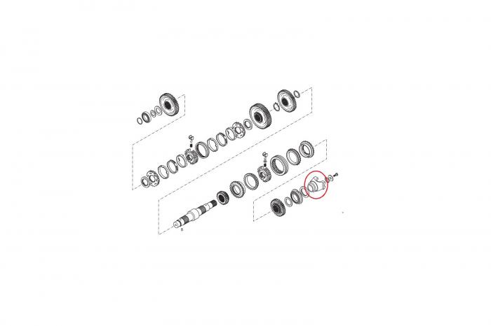 Flansa cardan buldoexcavator Komatsu-CARRARO 1