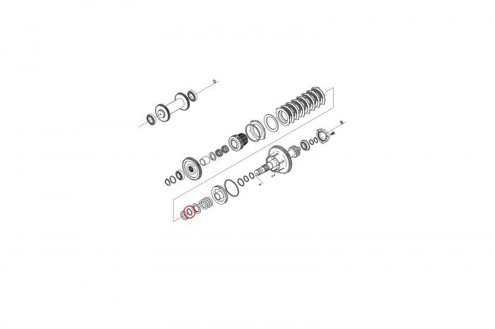 Inel buldoexcavator Komatsu-CARRARO 1