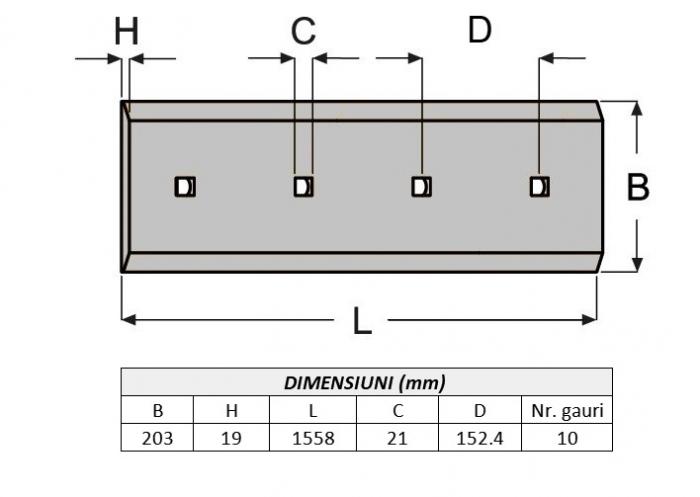 Lama de uzura 4T2315-AROX 1