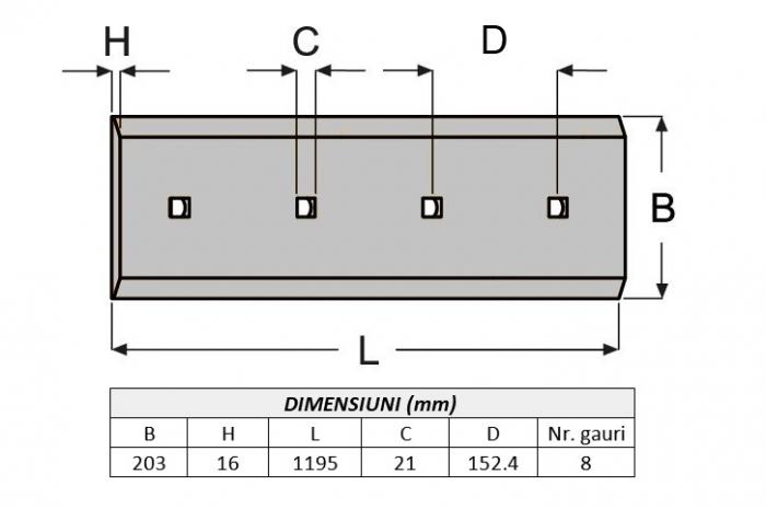 Lama de uzura 4T8940-ITR 1