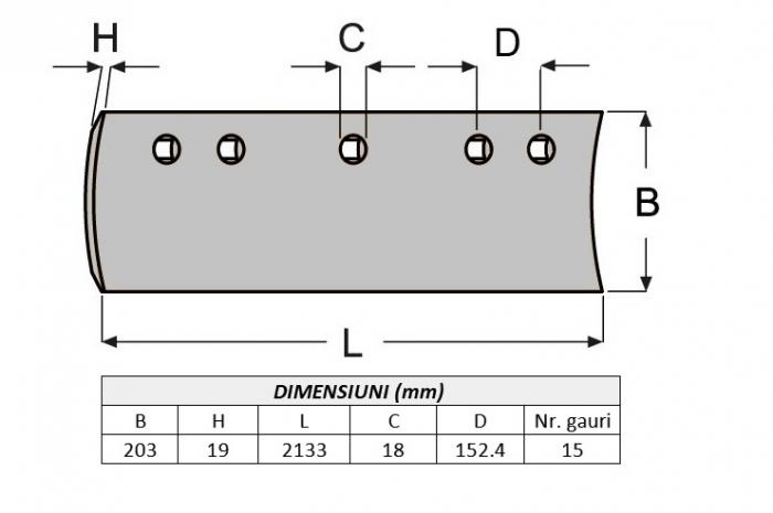 Lama de uzura 5D9559-ITR 1