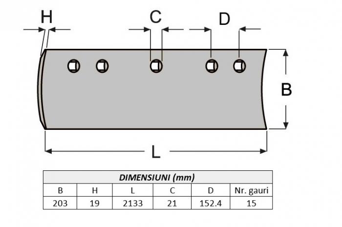 Lama de uzura 7D1577C-AROX 1