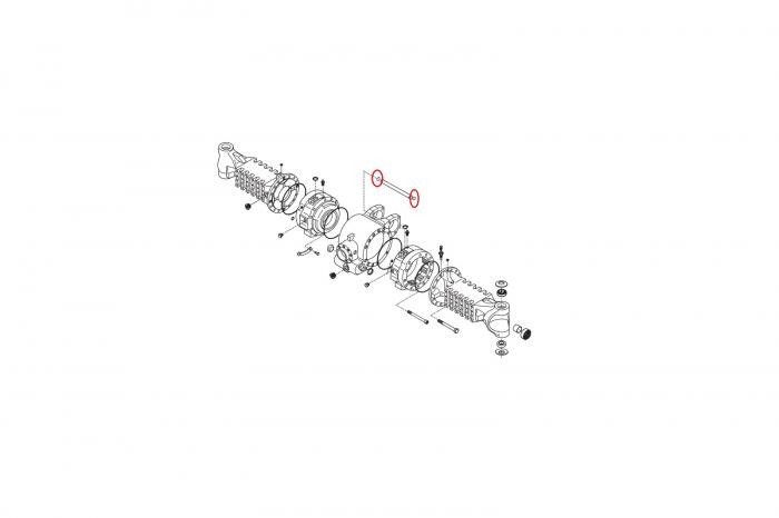 O-ring buldoexcavator Volvo-CARRARO 1
