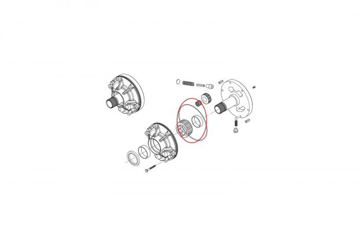 O-ring buldoexcavator Komatsu-CARRARO 1