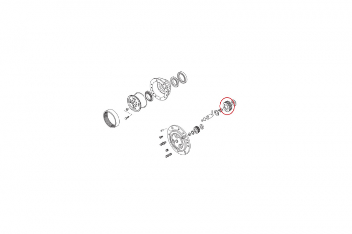 Pinion buldoexcavator Komatsu-CARRARO [1]