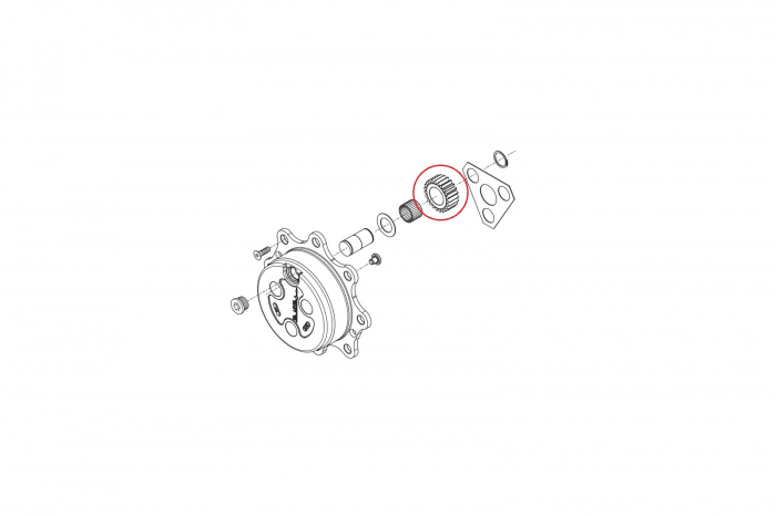 Pinion 125455-CARRARO 1