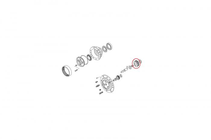 Pinion planetar 115643-CARRARO 1