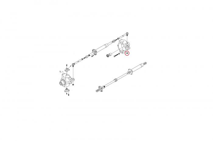 Piulita buldoexcavator Komatsu-CARRARO 1