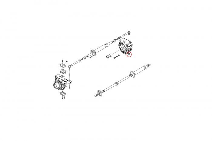 Piulita  M18X1,5 B buldoexcavator Komatsu-CARRARO [1]