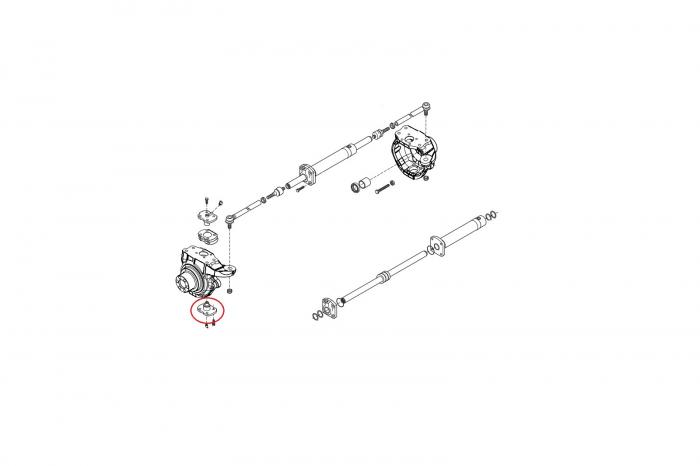 Pivot inferior buldoexcavator Komatsu-CARRARO 1