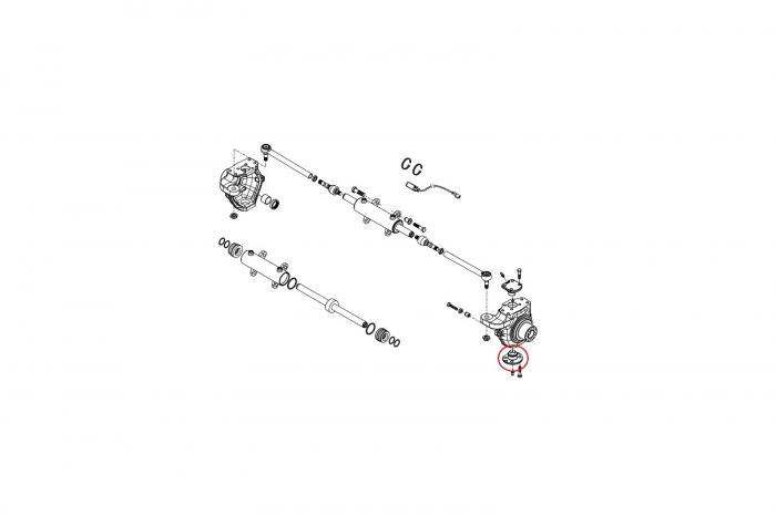 Pivot inferior buldoexcavator New Holland-CARRARO [1]