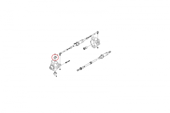 Pivot superior buldoexcavator Volvo-CARRARO 1