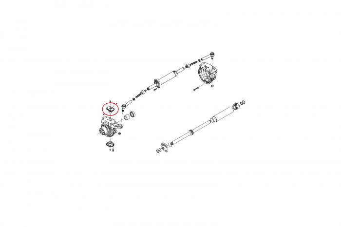 Pivot superior buldoexcavator New Holland-CARRARO 1