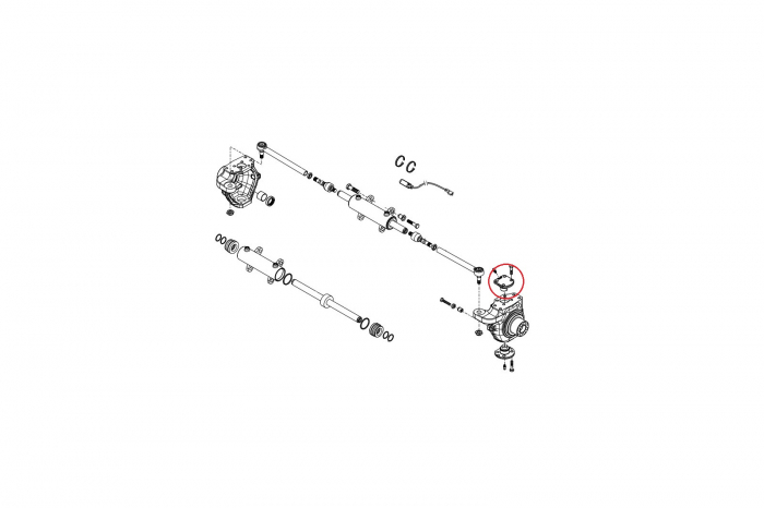 Pivot superior buldoexcavator Komatsu-CARRARO 1