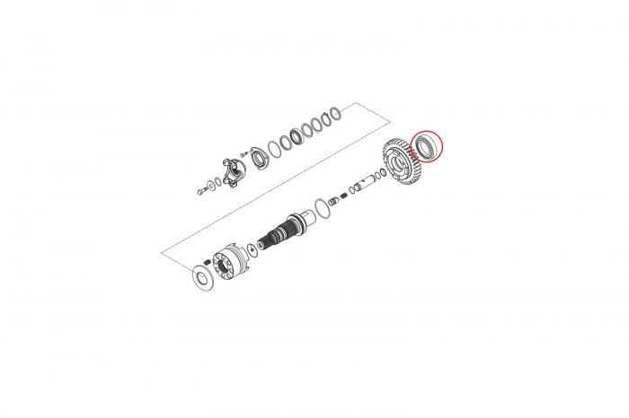 Rulment transmisie buldoexcavator Komatsu-CARRARO 1