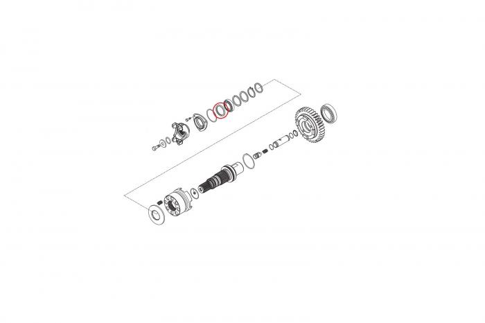 Simering flansa cardan buldoexcavator Komatsu-CARRARO 1