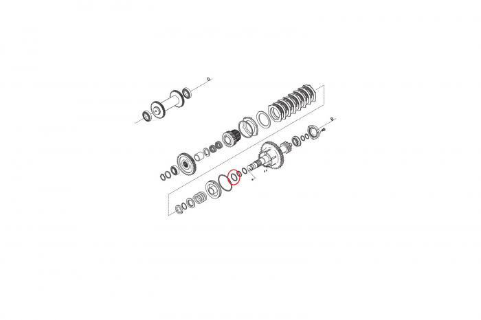 Simering buldoexcavator Komatsu-CARRARO 1