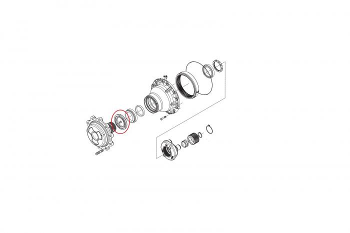 Simering butuc 149703-CARRARO 1