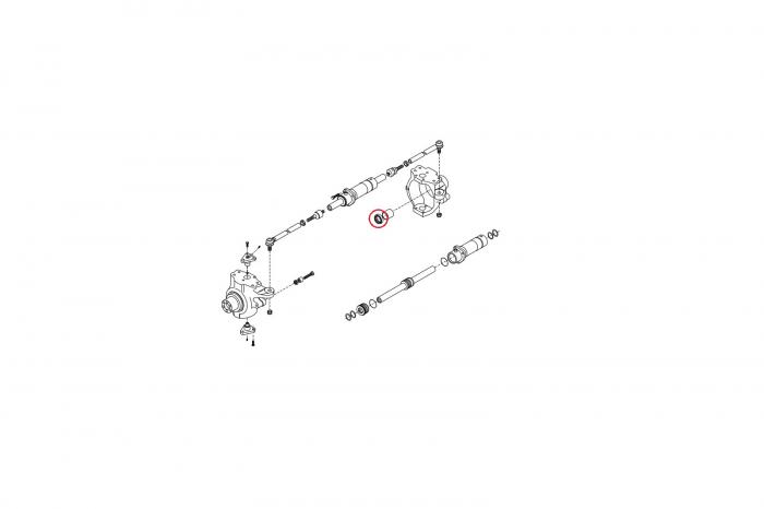Simering planetara buldoexcavator Komatsu-CARRARO 1