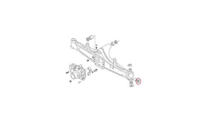 Simering planetara buldoexcavator Volvo-CARRARO 1