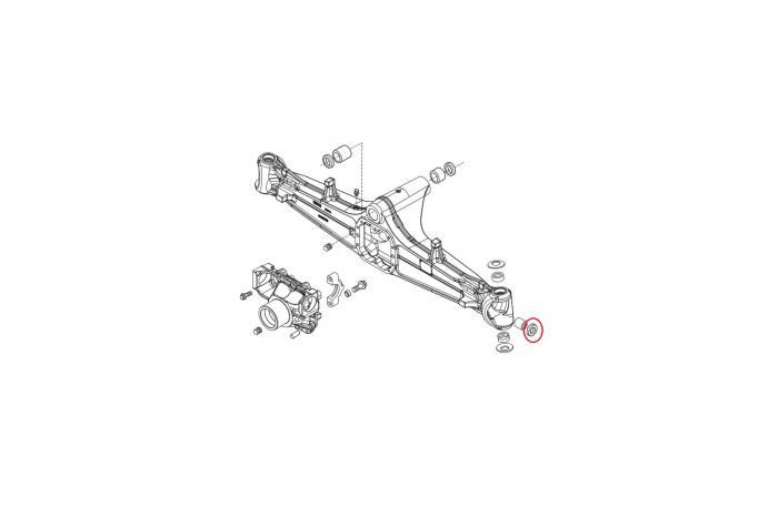 Simering planetara buldoexcavator Komatsu-CARRARO [1]